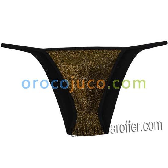 Shiny Men Cheeky String Briefs Pouch Stretchy Bikini Briefs Male Soft Thong Pant