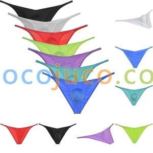 Mens Ice Silk Bikini Briefs Underwear Male Hipster Brazilain Bikini Pucker Pants