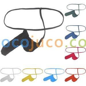 Men Modal String Thong No bondage Profile Modelling Underwear Long Bulge Pouch G-String