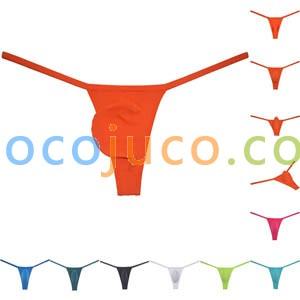 Men's Mini Skinny Panties Thong Underwear Ice Silk G-string T-back Jockstrap