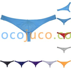 Men's Low-rise Enhancer Pouch Thong Underwear Bulge Bikini Breathable Tangas Underpants T-back
