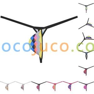 Strong elastic Men's Tear Drop G-String No constraint Tangas Underwear Flower Print String Bikini T-Back