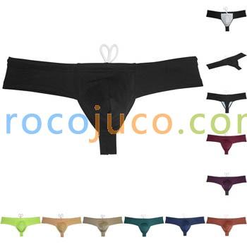 Men's Pouch Bulge Bikini Cheeky Swimwear Briefs Swim Trunks Boxers Underwear