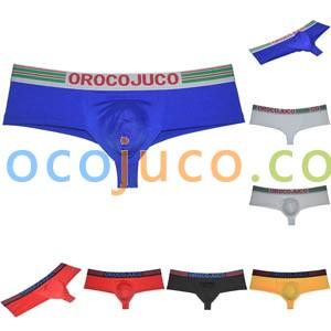 Men Ultra Cheeky Boxers Thong Underwear 1/2 Rear Coverage Brazilain Bikini Pants