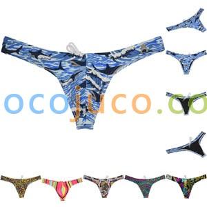 Men's Bikini Thong Swimwear Board Surf Short Trunks Contour Pouch Tangas Swimsuit