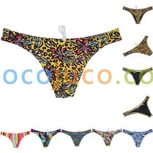 Men's Swim Thong Swimwear Elastic Fabric Bikini Shorts Trunks Swimsuit Surf Tangas