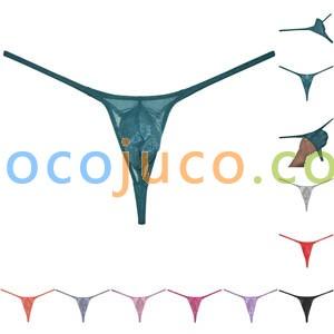 Sexy Men's Glass Yarn Bikini Thong Underwear See-through G-String Organdy Tangas