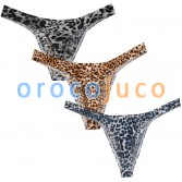 New Collection Fashion Leopard Bikini Sexy Men's Thongs And G-Strings Protruding Pouch Male Thong Underwear Men Underpants Tanga