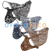 New Men's Leopard Posing Bikini Briefs Underwear Male Bulge Pouch Sexy Boxers Mini Pants MU04N