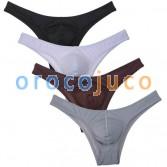 Men's Daily Bikini Briefs Underwear Low Rise Convex Pouch Cheeky Briefs Shorts