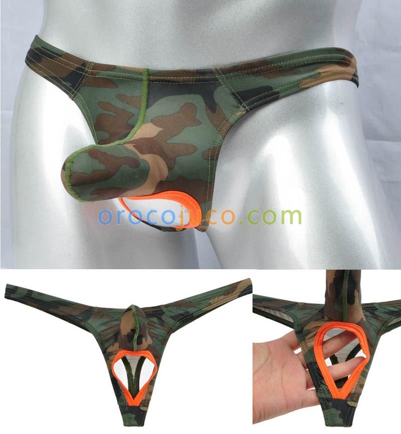 Männer lange Pouch Thong Leder wie Nuts String T-Back